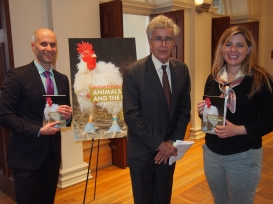 With Katie Sykes and Justice Louis LeBel at the book launch: Toronto, April 2015